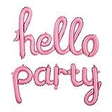 Hallo Party Letters Folienballons Aufblasbare Partydekorationen Silber/Pink - Rosa