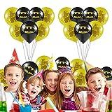 FGen 50 Stück Luftballons, Bunte Luftballons, Birthday Balloons, Balloons Batman für für Kinder geburtstagsfeiern Thema Karneval