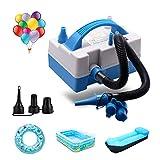 Luftballonpumpe, Elektrische Luftpumpen, Elektrisch für Ballons, Luftmatratze, Schwimmring, Schlauchboot, Pool (Blue Pump)