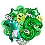 Luftballons Geburtstag 5 Jahr, Dino Geburtstag Dekorationen Junge luftballon,Party boy Geburtstag number deko Kinder,Riesen Folienballon Zahl 5, Geburtstag Ballons für Kinderpartyzubehör… (Grün 5)