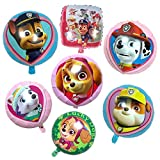 7 Stück Geburtstag Luftballons Folienballon HANEL-Paw Patrol Hund Kindergeburtstag Deko Paw Patrol Geburtstag Fellfreunde Luftballons Dekoration Set Happy Birthday Deko-Luftballon Balloons
