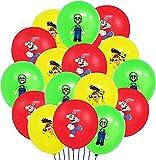 Super Mario Luftballons Geburtstag, 36 Stück Latex Luftballons, Mario Themed Party Dekorationsset für Kinder