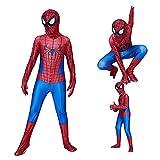 Zi Xi & Zi Qi Kinder Cosplay Kostüm Lycra Stoff Halloween Kostüm Superhelden Kostüm mit Maske und Linse (Stil 4, S)