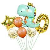 HXLFYM 1 Set Große Dinosaurier Geburtstags Party Folie Ballons Baby Junge 32 Zoll Goldnummer Bälle Jungle Tier Party Dekorationen für Kinder (Color : A0)
