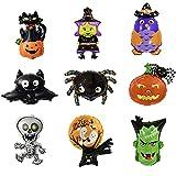 9 Stück Halloween Party Dekoration, Halloween Dekoration Folienballon, Halloween DekorationHelium Ballon Kit, Verwendet für Partys, Halloween, Karneval, Bars, Heimtextilien