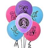 YUESEN Luftballon Frozen 20 Stück Schneeflocke Party Deko Blau Luftballon Folienballon Dekorationen Party Deko Latex Luftballons Party Hochzeit Geburtstagsparty 4 Verschiedene Muster