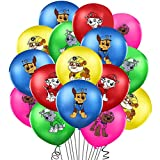 Miotlsy Ballon Luftballon Paw Patrol Hund Kindergeburtstag Deko Paw Patrol Geburtstag Fellfreunde Luftballons Dekoration Set Happy Birthday Deko-Luftballon Balloons, 40pcs