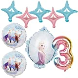 JSJJAYH Ballon 1set Folienballons Gefrorene Prinzessin Ballon 32inch Zahl Baby-Dusche Mädchen globos Geburtstag Dekorationen décoration (Color : 9pcs elsa3)