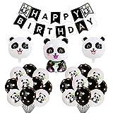 Panda Geburtstag Dekoration Luftballons Alles Gute Zum Geburtstag Girlande Kindergeburtstag Deko Panda Folienballons für Kinder Geburtstag Party Dekorationen