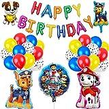 Paw Patrol Geburtstag Dekoration Set Kompakt Happy Birthday Deko Spirale Konfetti Partykette Paw Patrol für Kinder