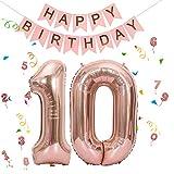Folienballon Zahl in Roségold,Luftballon Zahlen,Riesige Folienballon,Zahl Geburtstagsdeko,Geburtstag Dekoration bunt,Folienballon im Zahlen-Design,Party Supplies Folienballon im Zahlen-Design (10)