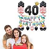 ROSEBEAR Geburtstagsparty-Ballon-Set aus Aluminiumfolie und Latex-Luftballons für Partyzubehör, Geburtstagsparty-Dekoration