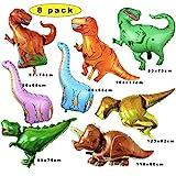 8 Pack Dino Luftballons,Folienballon Dinosaurier ,Balloon Bouquet Dekoration,Dinosaurier Ballon Party,Folienballon Kinder Gross,Geburtstagsfeier Folienballon,Folien Dinosaurier Luftballons