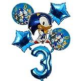 Yanqhua Ballon 6pcs / Lot 32inch Anzahl Folienballon Junge Mädchen Geburtstag Dekoration Luftballons (Color : 03)