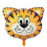 Riesiger Folienballon mit Tierkopf, aufblasbar, Luftballon, Happy Birthday Weihnachten, Party-Dekoration für Kinder Babyparty