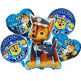 Paw Patrol Hund Kindergeburtstag Deko Chase XL Set Folienballon Paw Patrol Geburtstag Luftballons Dekoration Set Happy Birthday Deko-Luftballon Balloons