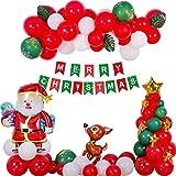 BOST 79PCS Weihnachtsballonset, Weihnachtsdekoration, Weihnachtsballons für Weihnachtsfeiern und Karnevalsdekorationen, Weihnachtsdekorationen für Geburtstagsfeiern