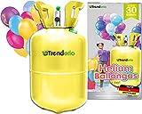 Trendario Party Helium für Luftballons - Ballongas - XL für bis zu 30 Ballons - Heliumbehälter inklusive 30 Latexballons und Ballonband zum einfachen befüllen