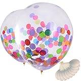Mudder 12 Zoll Bunt Konfetti Luftballons für Party Zeremonie Feier Dekoration