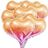 50 Stück Herz Ballons 18 Zoll Heliumballon Herz Folienballon Herzluftballons Helium Luftballons Folienluftballon Geeignet für Hochzeit, Brautdusche, Valentinstag, Geburtstag, Party Deko (Orange-Rosa)