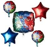 amscan 3467601 Folienballon Blumenstrauß PJ Masks 5 Stück, Farbe
