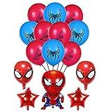 smileh Deko Geburtstag Spider Man Luftballons Spiderman Ballon Deko für Kinder Geburtstagsfeier Dekorationen
