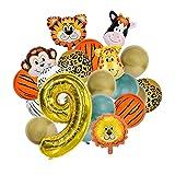 Folienballon Tiere, 21 Stück Tiere Ballon Folienballon Tiere Luftballons Tierkopf LuftballonsHelium Ballons Dschungel Luftballons, für Kinder Geburtstag Party Dekoration