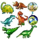 8 Stück Dinosaurierfolienballons,Folien Ballon Dinosaurier, Geburtstagsfeier Folienballon, Dinosaurier Helium Luftballon, für Kinder Geburtstagsfeier Event Dekoration