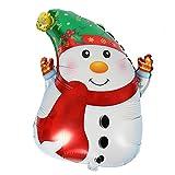 Amosfun Schneemann-Folienballon, hübscher bedruckter Weihnachtsmylar-Ballon für Merry Christmas Party Dekoration