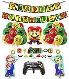 Super Mario Geburtstag Deko Super Mario Luftballons Super Mario Alles Gute zum Geburtstag Girlande Super Mario Kuchen Topper Super Mario Geburtstags Party Decoration