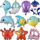 ZQBB Fisch Folienballon 10 Stück Meerestiere Fisch Luftballons für Kindergeburtstag Party Dekoration