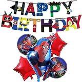 Geburtstag Deko Spiderman Luftballons Spiderman Happy birthday Banner für Kinder Superhelden Avengers Marvel Party Decorations