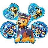 Paw Dog Patrol Chase Geburtstags XL Luftballons 5er Set Folienballon Hunde Team Hund Kindergeburtstag Deko Paw Dog Patrol Dekoration Mottoparty Party Herz Chas Ballon
