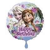 Amscan 2900901 - Standard Folienballon Frozen Happy Birthday, Druchmesser circa 43 cm, Heliumballon, Geburtstag, Dekoration