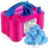 Aotlet Elektrische Luftballonpumpe,Aufblasgerät ballonpumpe Luftballons mit automatischem für Party Geburtstag, Hochzeit und Festivaldekoration—Enthält 10 Luftballons und Ballonknoter