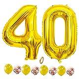 Jxuzh Party Dekoration Helium Folienballon Zahlen 30 in Gold Konfetti Luftballons Geeignet für Geburtstage, Überraschungsparties, Hochzeiten, Jubiläen, Einweihungen, Einstände, Abschlüsse und Feste