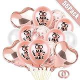 Hochzeit Luftballons Rosegold,Hochzeits Ballons, MR & MRS Luftballons, Herzluftballons Hochzeit, Latex Ballons Rose Gold Deko, Hochzeitdeko Hochzeitsballons für Hochzeit Fest Party Brautdusche
