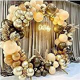 TERC Geburtstags-Ballonbogen-Set, 102 Stück, Kaffeebraun, Ballonbogen-Set, Hautfarbe, Latexgirlande, Baby-Party, Hintergrund, Hochzeit, Party, Dekoration (Farbe