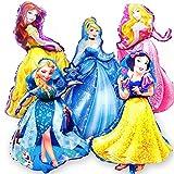 Princess Ballon, Geburtstagsdekoration, Folienballon Prinzessin für Partys, Geburtstage, Dekorationen für Mädchen
