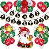 BOST Weihnachtsmann-Ballon-Set, Weihnachtsdekoration, Weihnachtsmann-Weihnachts-Set, Weihnachtsballons, verwendet für Weihnachtsfeier, Kostüm und Karnevalsdekoration