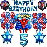 Nesloonp Spiderman Ballon Deko für Kinder Luftballons Spiderman Ballon Deko für Kinder Geburtstag Partei Dekoration Plus Pumpe