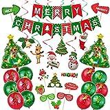 FEEE-ZC Frohe Weihnachten Ballons, Weihnachtshotel Dekoration Aluminiumfolie Ballon Paket Weihnachtsfoto Requisiten Weihnachtsballon Dekoration Set