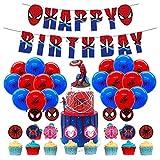 Geburtstag Deko Spiderman Luftballons Spiderman Geburtstag Girlande Spiderman Kuchendeckel Superhelden Avengers Marvel Party Decorations
