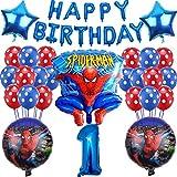 27Piece Spiderman Party Supplies - Miotllsy Spiderman Geburtstag Party Dekoration, Geburtstag Party Dekoration Banner, für Partys und Geburtstage Ideal Ihre Partys Supplies Schmücken