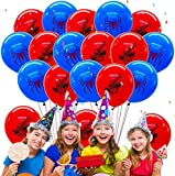 Qemsele Geburtstag Luftballons für Kinder, 50pcs Karikatur Konfetti Luftballons 12 Zoll Latex Ballons mit Bändern Geburtstag Party Dekoration Karneval, Kindergeburtstag (Spiderman)