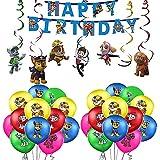 Geburtstag Dekoration Paw Dog Patrol Luftballons Paw Dog Patrol Geburtstag Girlande Paw Dog Patrol Hängen Wirbel Dekorationen