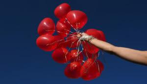 Luftballon für Hochzeit