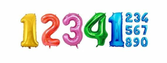 Folienballons Zahlen